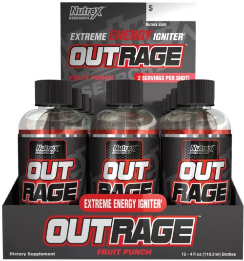 Nutrex Outrage Energy Shots - 1 Shot Fruit Punch