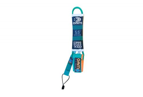 OAM Super Comp 5.5' Leash - teal mod, one size