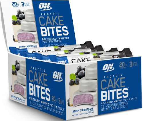 Optimum Nutrition Protein Cake Bites - Box of 12 Berry Cheesecake