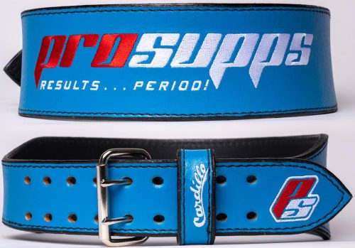 ProSupps Fitness Gear Cardillo Weight Belt - Blue Medium