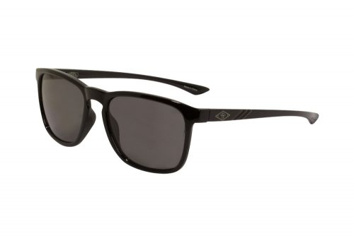 Wilder & Sons Broadway Polarized Sunglasses - shiny black/dark smoke polarized, one size