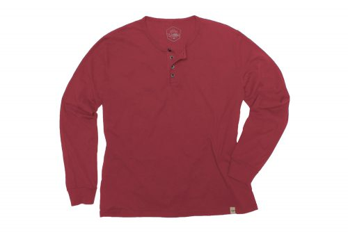 Wilder & Sons Classic Henley Long Sleeve Shirt - Men's - burgundy, x-large