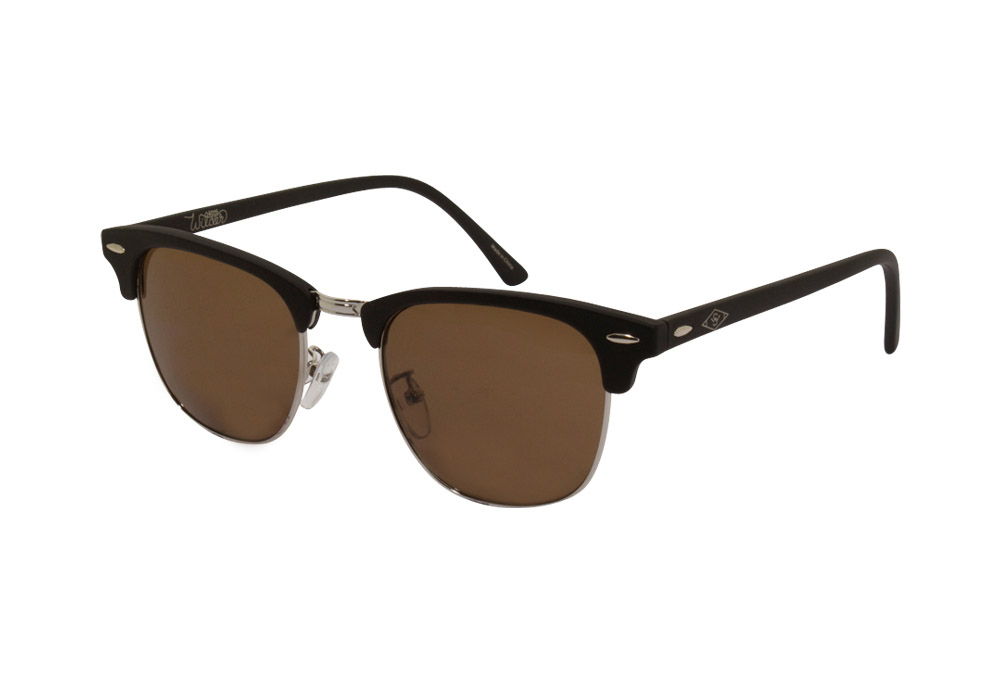 Wilder & Sons Freemont Polarized Sunglasses - matte black/ dark brown polarized, one size