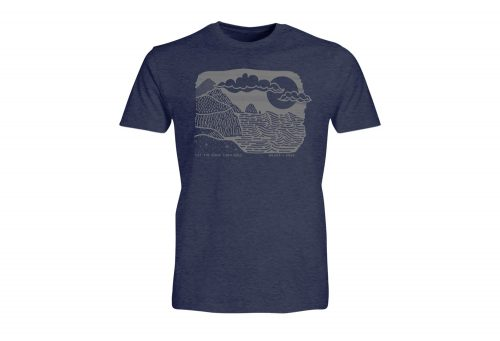 Wilder & Sons Let The Good Tides Roll Tee - Men's - navy heather, small