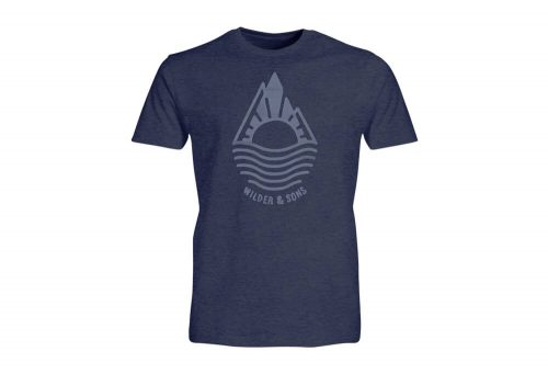 Wilder & Sons Mountain Drop T-Shirt - Men's - navy heather, medium