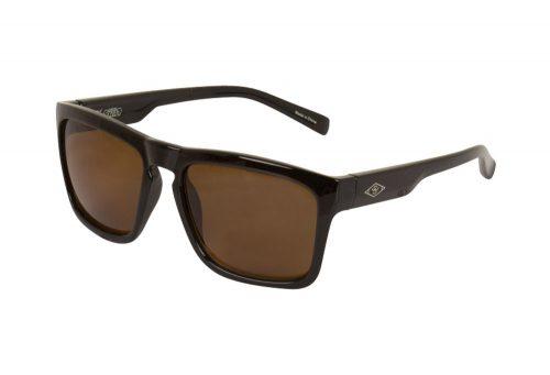 Wilder & Sons Steel Polarized Sunglasses - shiny black/dark brown polarized, one size