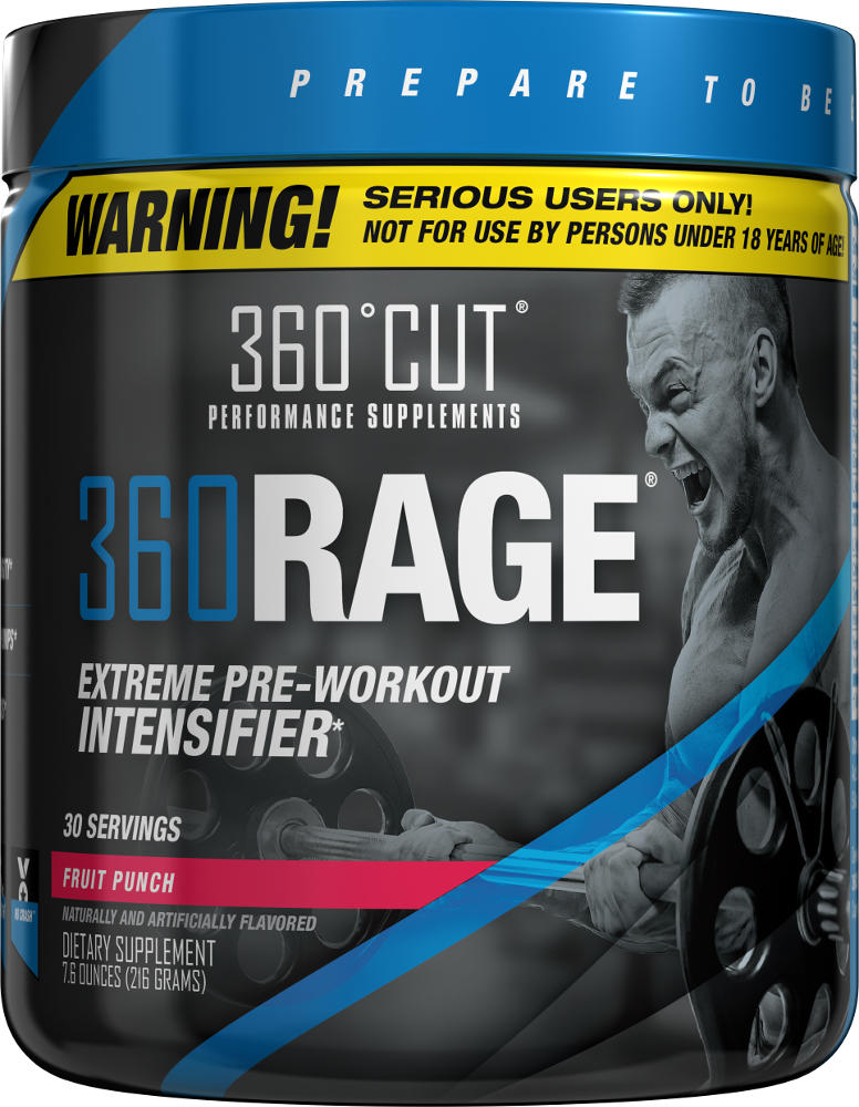 360Cut 360RAGE - 30 Servings Fruit Punch