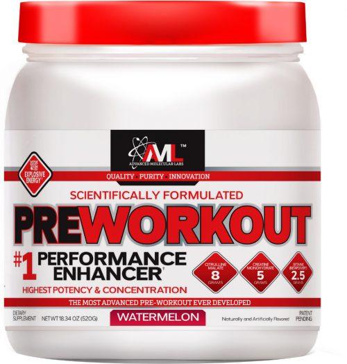 Advanced Molecular Labs Preworkout - 20 Servings Watermelon