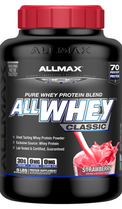 AllMax Nutrition AllWhey Classic - 5lbs Strawberry