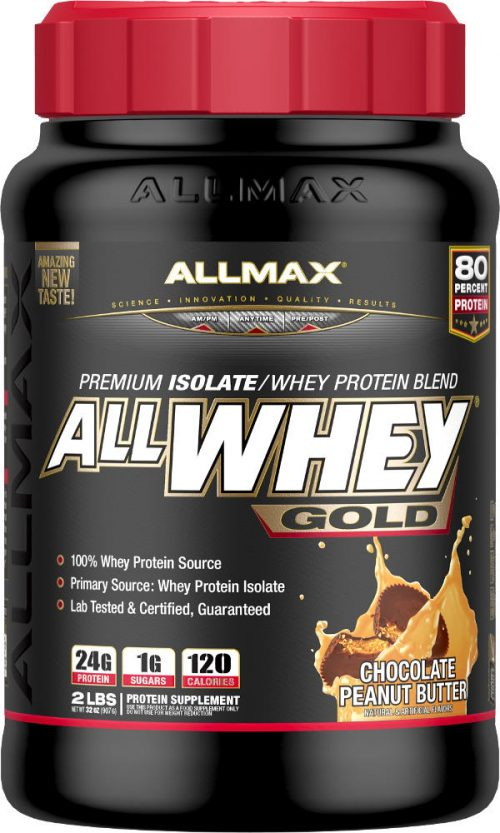 AllMax Nutrition AllWhey Gold - 2lbs Chocolate Peanut Butter
