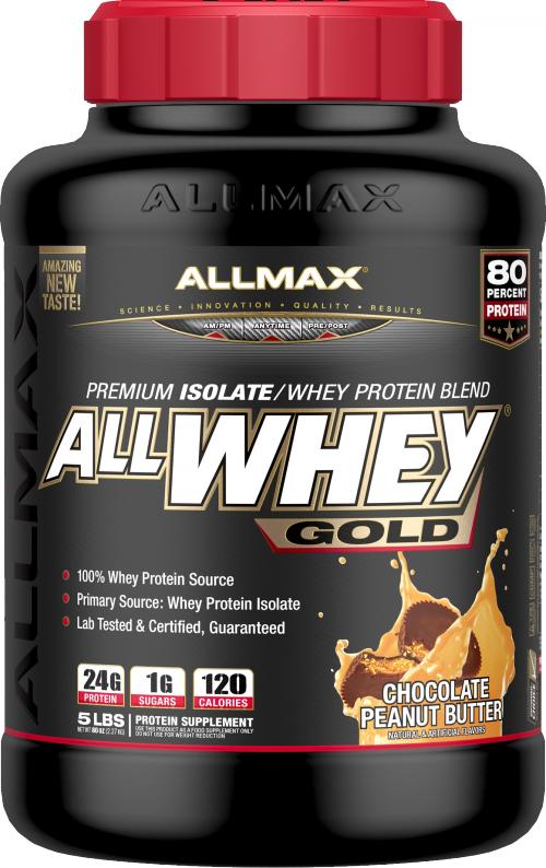 AllMax Nutrition AllWhey Gold - 5lbs Chocolate Peanut Butter
