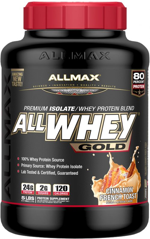 AllMax Nutrition AllWhey Gold - 5lbs Cinnamon French Toast