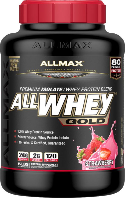 AllMax Nutrition AllWhey Gold - 5lbs Strawberry
