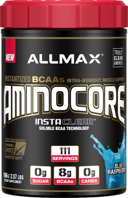 AllMax Nutrition AminoCore - 111 Servings Blue Raspberry