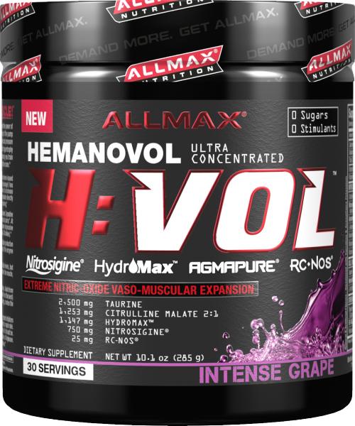 AllMax Nutrition H:VOL - 30 Servings Intense Grape
