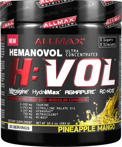 AllMax Nutrition H:VOL - 30 Servings Pineapple Mango