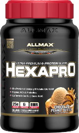 AllMax Nutrition HexaPro - 3lbs Chocolate Peanut Butter
