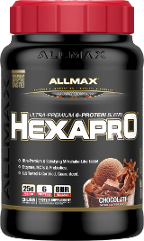 AllMax Nutrition HexaPro - 3lbs Chocolate