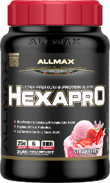 AllMax Nutrition HexaPro - 3lbs Strawberry