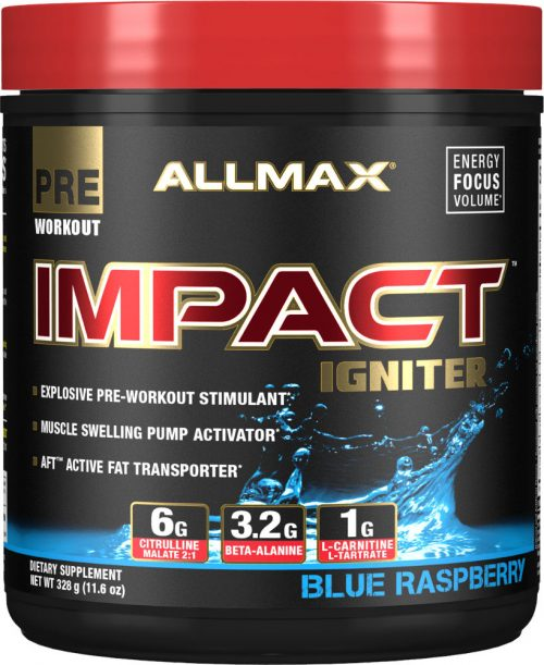 AllMax Nutrition Impact Igniter - 328g Blue Raspberry