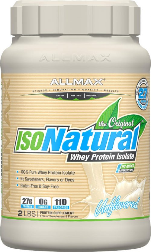 AllMax Nutrition IsoNatural - 2lbs Unflavored