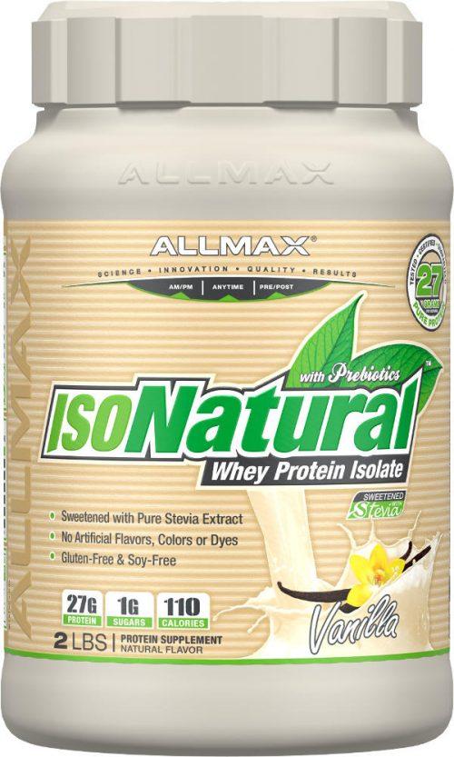 AllMax Nutrition IsoNatural - 2lbs Vanilla