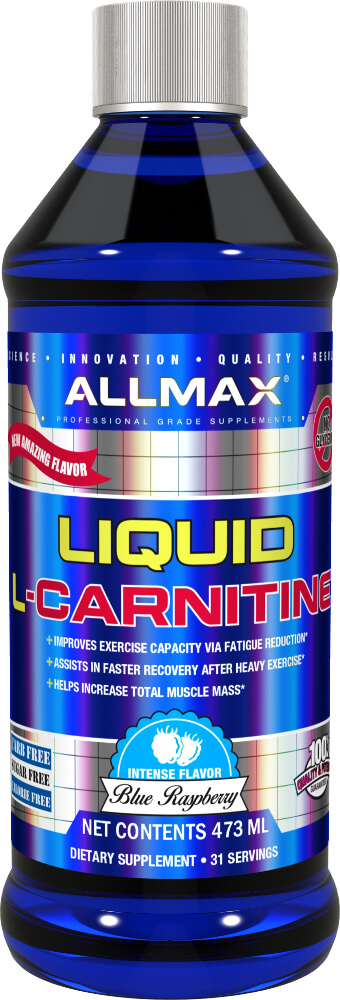 AllMax Nutrition Liquid L-Carnitine - 16 Fl. Oz. Blue Raspberry