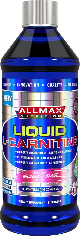 AllMax Nutrition Liquid L-Carnitine - 16 Fl. Oz. Wildberry Blast
