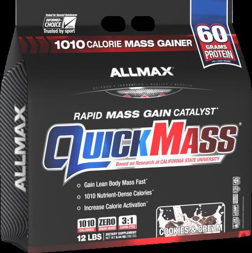 AllMax Nutrition QuickMass Loaded - 12lbs Cookies & Cream