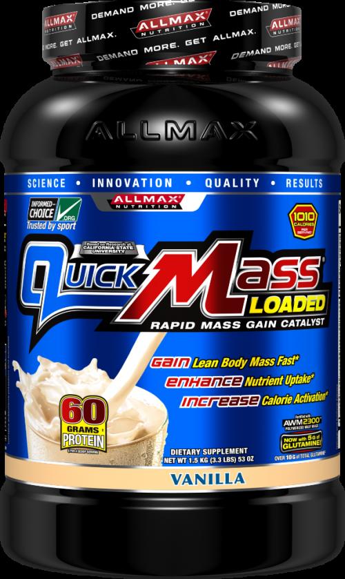 AllMax Nutrition QuickMass Loaded - 3.3lbs Vanilla