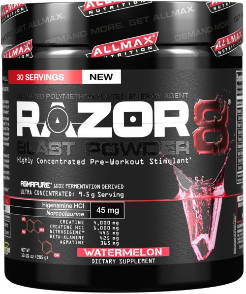AllMax Nutrition Razor8 Blast Powder - 30 Servings Watermelon