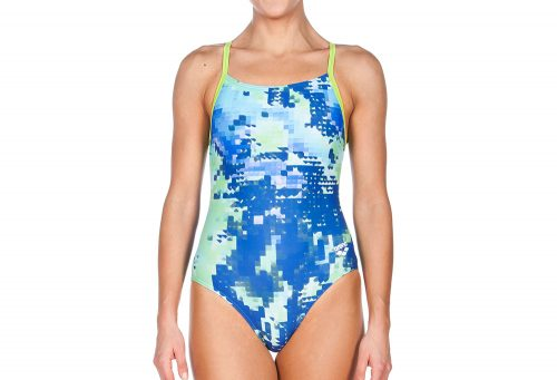 Arena Molt Light Drop Back One Piece - Women's - leaf/multi, 30