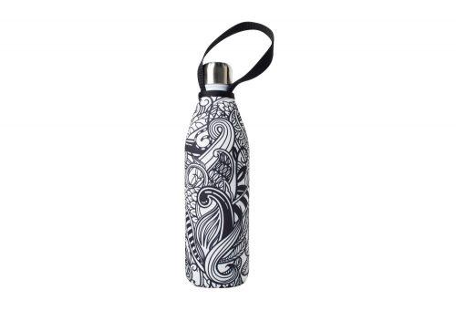 BBBYO Future Bottle+ Carry Cover - 750 ml - koru print/powdercoat white, 750ml