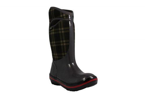 BOGS Plimsoll Plaid Tall Boots - Women's - dark gray, 6