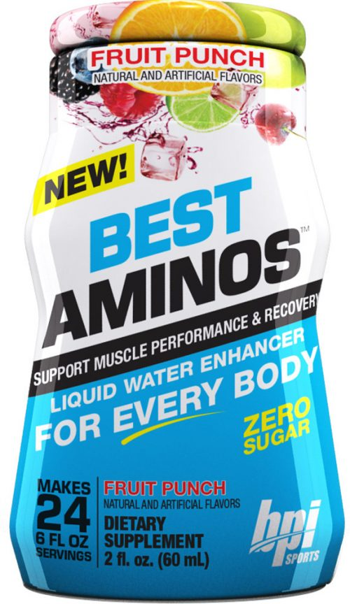 BPI Sports Best Aminos Liquid Water Enhancer - 1 Bottle Fruit Punch