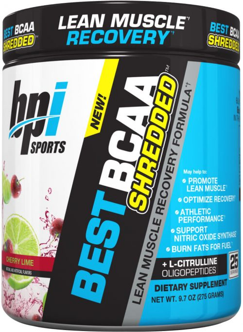 BPI Sports Best BCAA Shredded - 25 Servings Cherry Lime