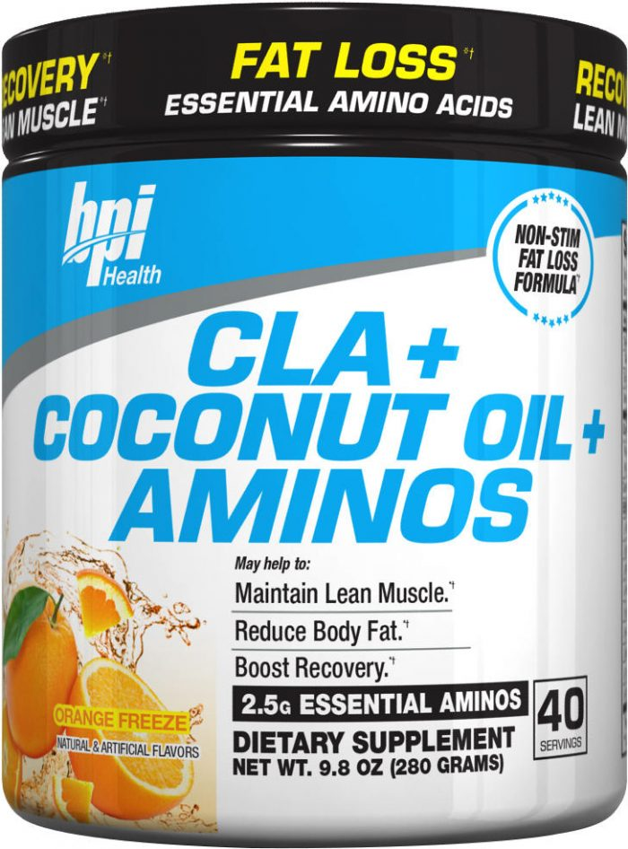 BPI Sports CLA + Coconut Oils + Aminos - 40 Servings Orange Freeze