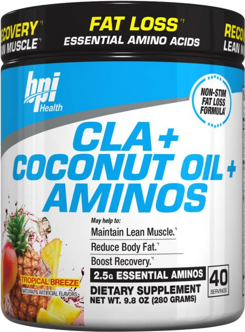BPI Sports CLA + Coconut Oils + Aminos - 40 Servings Tropical Breeze