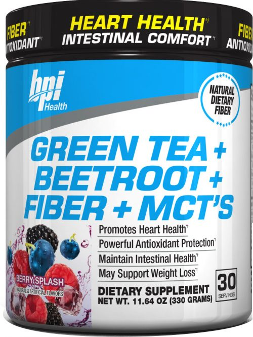BPI Sports Green Tea + Beetroot + Fiber + MCT's - 30 servings Berry Sp