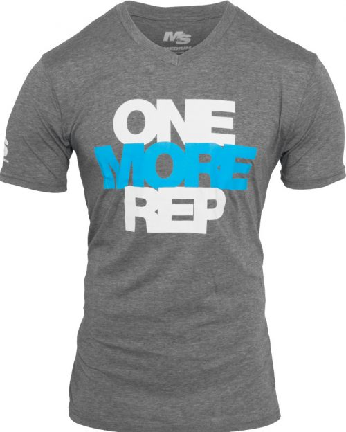 BPI Sports One More Rep V-Neck - Heather Large