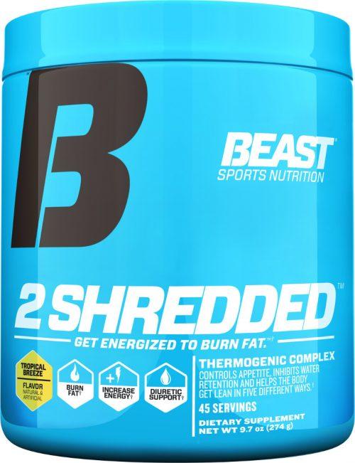 Beast Sports Nutrition 2 Shredded - 45 Servings Tropical Breeze