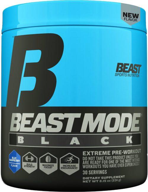 Beast Sports Nutrition Beast Mode Black - 30 Servings Blue Raspberry