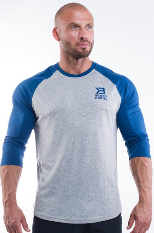 Better Bodies Mens Baseball Tee - Navy Large