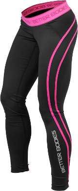 Better Bodies Women's Athlete Tights - Black/Pink Large