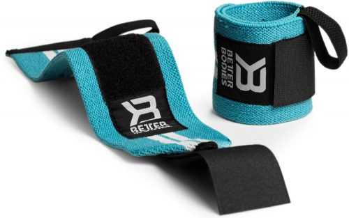 Better Bodies Womens Wrist Wraps - One Size Aqua/White