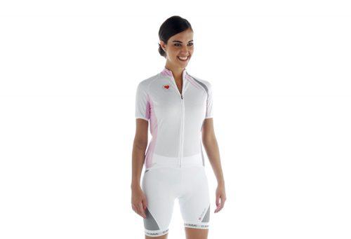 Biemme Strips Cycling Jersey - Women's - white/pink, large