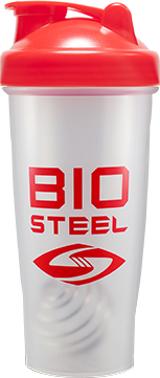 BioSteel BlenderBottle - 1 Red/Clear Bottle