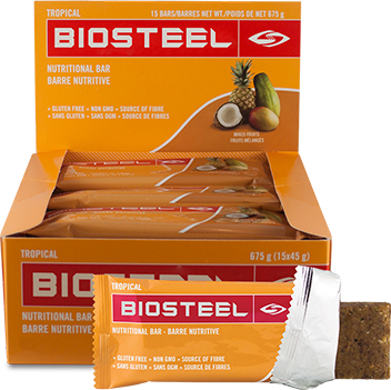 BioSteel Nutritional Bars - Box of 15 Tropical