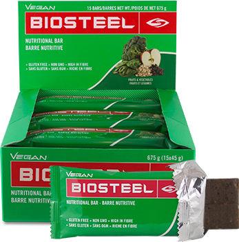 BioSteel Nutritional Bars - Box of 15 Vegan