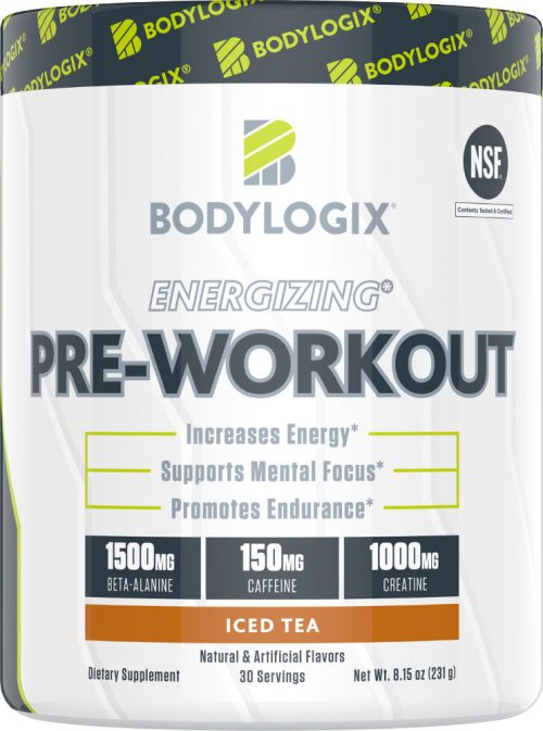 Bodylogix Energizing Pre-Workout - 30 Servings Iced Tea